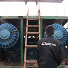 船舶水下泵设备维修现场07